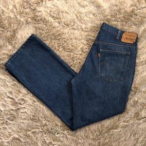 Vintage Levi's 517.0917 Orange Tab Jeans 36x31